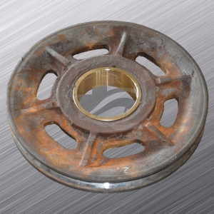 RESLEEVING OF HOLES IN GRAPPLE ROPE WHEELS